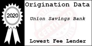 2020 Union Savings Bank Low Fee Award
