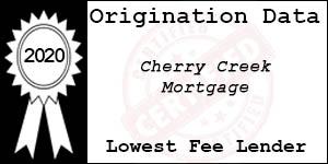 2020 CHERRY CREEK MORTGAGE  Low Fee Award
