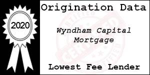 2020 Wyndham Capital Mortgage  Low Fee Award