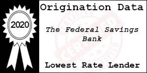 2020 The Federal Savings Bank Low Rate Award