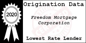 2020 FREEDOM MORTGAGE CORPORATION Low Rate Award