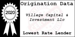 2020 VILLAGE CAPITAL & INVESTMENT  Low Rate Award
